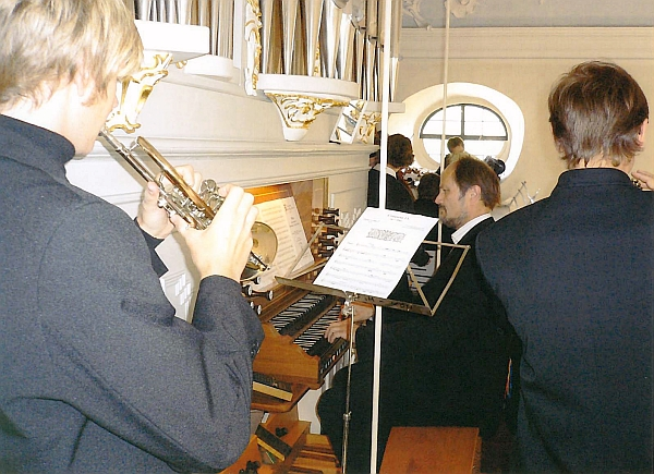 Musicians of the Training College for Music Bad Königshofen during service