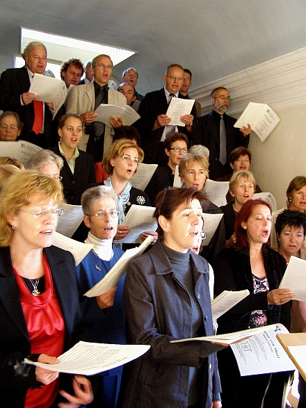 The Church choir of Muri/Aargau during service
